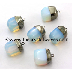Opalite Nugget Black Rhodium ElectroPlated Pendant