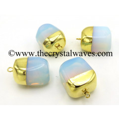 Opalite Nugget Gold ElectroPlated Pendant