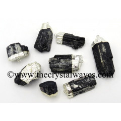 Black Tourmaline Silver Electroplated Pendant