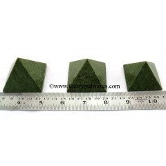 Grass Jasper  35 - 55 mm wholesale pyramid