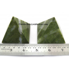 Grass Jasper more than 55 mm Large wholesale pyramid