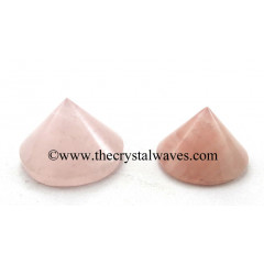 Rose Quartz Conical Pyramid