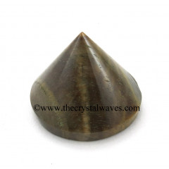 Tiger Eye Agate Conical Pyramid