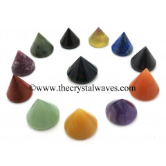 Mix Assorted Gemstones Conical Pyramid