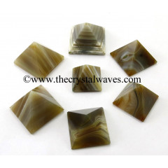 Lace Agate less than 15mm pyramid