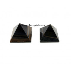 Blue / Black Tiger Eye Agate less than 15mm pyramid