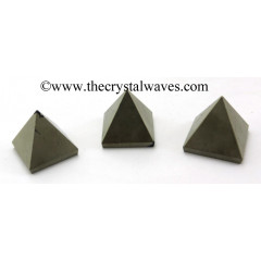 Pyrite less than 15mm pyramid
