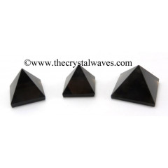 Smoky Obsidian less than 15mm pyramid