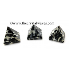 Black & White Tourmaline less than 15mm pyramid