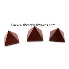 Red Jasper less than 15mm pyramid