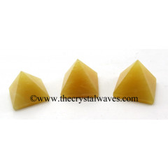 Yellow Aventurine less than 15mm pyramid