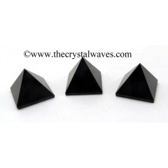 Black Obsidian less than 15mm pyramid
