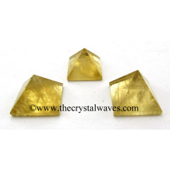 Citrine Quartz less than 15mm pyramid