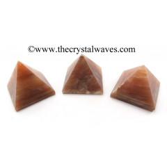 Peach Moonstone less than 15mm pyramid