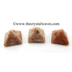 Sunstone less than 15mm pyramid