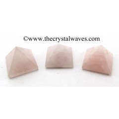 Rose Quartz Indian less than 15mm pyramid