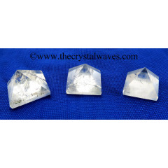 Crystal Quartz B Grade less than 15mm pyramid