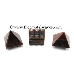 Red Tiger Eye Agate Lemurian Pyramid