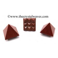 Red Jasper Lemurian Pyramid