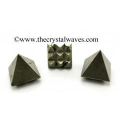 Pyrite Lemurian Pyramid