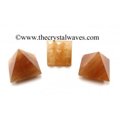 Peach Moonstone Lemurian Pyramid