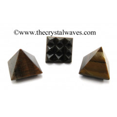 Tiger Eye Agate Lemurian Pyramid