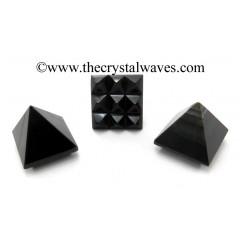 Blue / Black Tiger Eye Agate Lemurian Pyramid