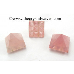 Rose Quartz Lemurian Pyramid