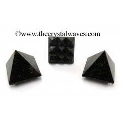 Nuummite / Coppernite Lemurian Pyramid
