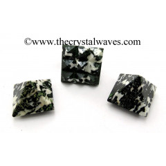 Black & White Tourmaline Lemurian Pyramid