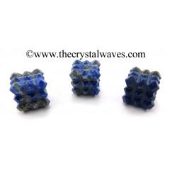 Lapis Lazuli Lemurian 54 Pyramid Power Cube