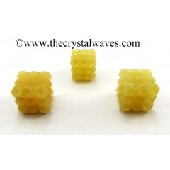 Yellow Aventurine Lemurian 54 Pyramid Power Cube