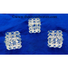 Crystal Quartz Good Quality Lemurian 54 Pyramid Power Cube