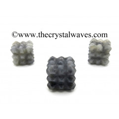 Iolite Lemurian 54 Pyramid Power Cube