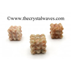 Sunstone Lemurian 54 Pyramid Power Cube