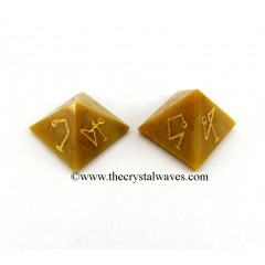 Camel Jasper Arch Angel Engraved Pyramid