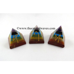 7 Chakra Bonded Arch Angel Engraved Pyramid