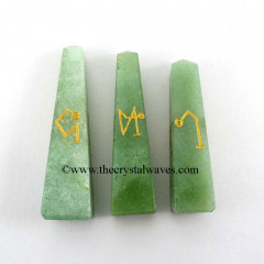 Green Aventurine  Arch Angel Engraved Tower