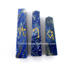Lapis Lazuli Arch Angel Engraved Tower