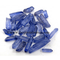 Tanzine Aura Dyed Crystal Quartz A Grade Raw Pencil Points