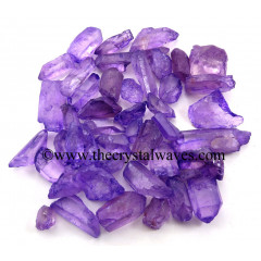 Purple Aura Dyed Crystal Quartz A Grade Raw Chunks