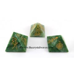 Green Aventurine (Light) Usui Reiki Pyramid