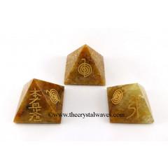 Yellow Aventurine  Usui Reiki Pyramid