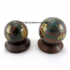 Blood Agate  Usui Reiki Ball / Sphere