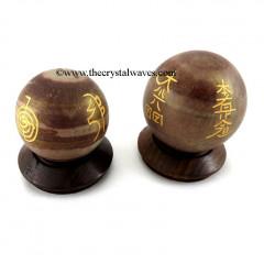 Narmada River Stone Usui Reiki Ball / Sphere