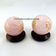 Rose Quartz Usui Reiki Ball / Sphere