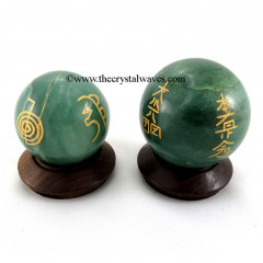 Green Aventurine ( Light) Usui Reiki Ball / Sphere