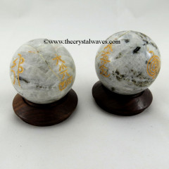 Rainbow Moonstone Usui Reiki Ball / Sphere