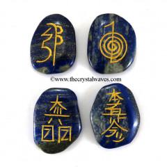 Lapis Lazuli  Engraved Usui Reiki Set