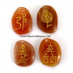 Peach Moonstone  Engraved Usui Reiki Set